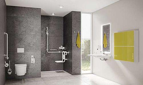Barrierefreies Bad mit Dusche und WC