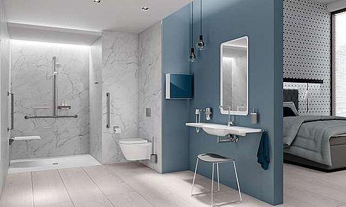 Barrierefreies Badezimmer, damit Sie im Alter den Alltag leichter meistern.